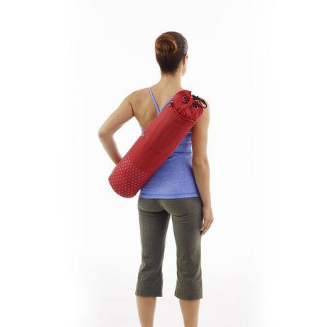 Merrithew sac en toile pour tapis de pilates et yoga rouge - Toile a canevas pour tapis ...