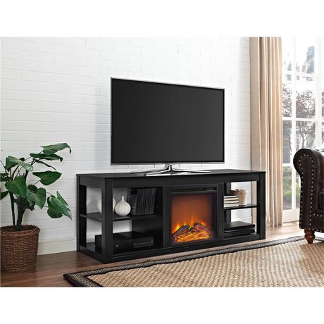 Dorel Parsons Tv Console Electric Fireplace