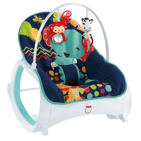 Fisher price infant to toddler rocker midnight for Chaise haute fisher price