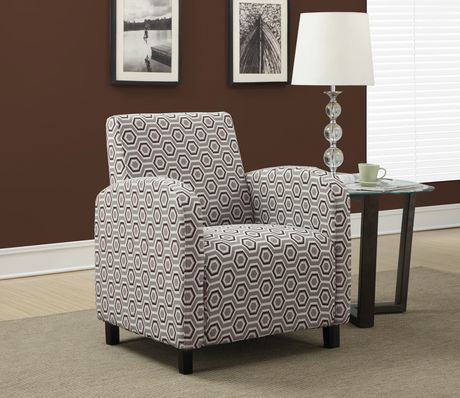Monarch Specialties Accent Chair Grey Earth Tone
