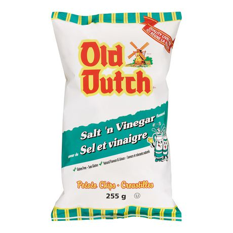 Croustilles sel et vinaigre sans gluten d 39 old dutch - Vinaigre et gros sel ...