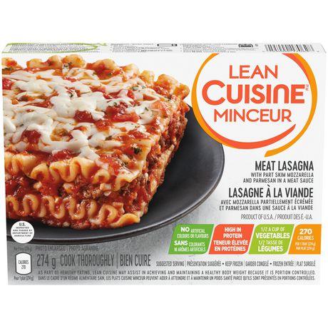 Lean cuisine selection meat lasagna for Average price of lean cuisine
