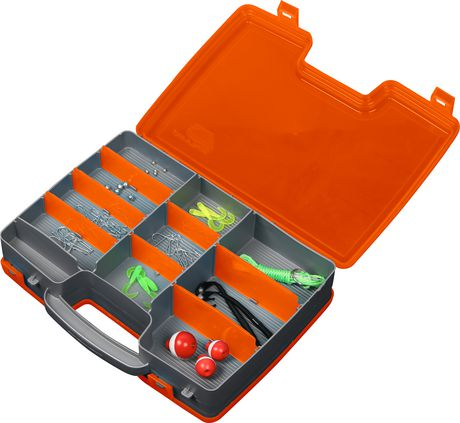 Plano molding 171570 double sided satchel starter kit with for Walmart fishing tackle