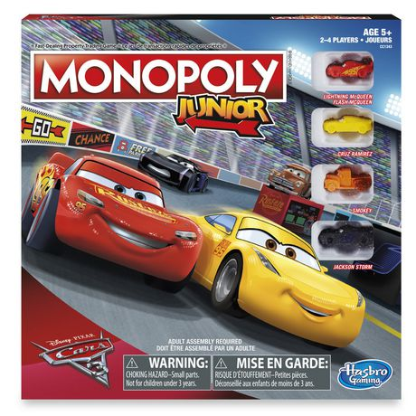 Monopoly Junior: Disney Pixar Cars 3 Edition Not Applicable