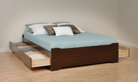 prepac queen storage bed espresso 2