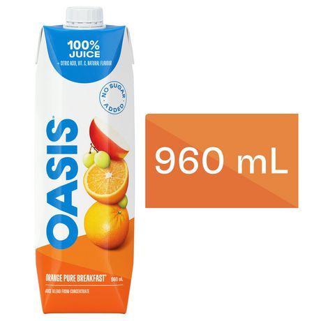 Jus Pur Déjeuner Orange Oasis | Walmart.ca Oasis Juice Logo