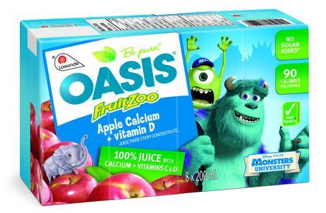 Oasis Fruitzoo Apple Calcium Juice | Walmart.ca Oasis Juice Logo
