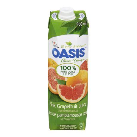 Jus pamplemousse rose Oasis | Walmart.ca Oasis Juice Logo