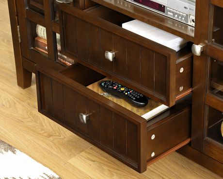 normandy 53 inches wide x 35 inches high tall tv stand in tobacco brown. Black Bedroom Furniture Sets. Home Design Ideas