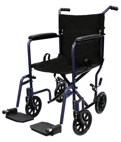chaise de transport en aluminium 1med bleu fonc. Black Bedroom Furniture Sets. Home Design Ideas