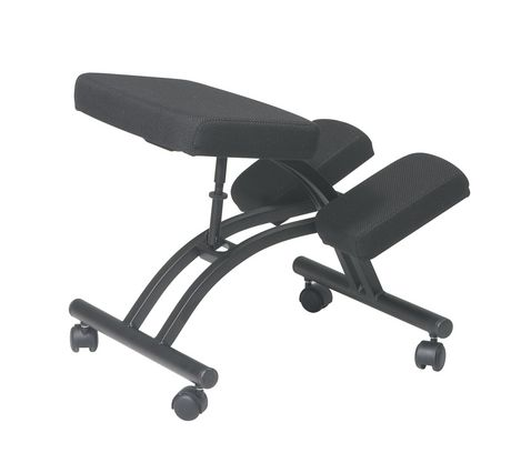 Chaise ergonomique appui genoux de office star for Chaise ergonomique genoux