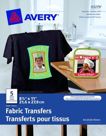 Avery transferts pour t shirts fonc s walmart canada - Transfert pour tee shirt ...