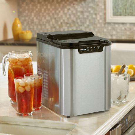 danby 2 00 lb countertop ice maker danby 2 00 lb stainless steel ...