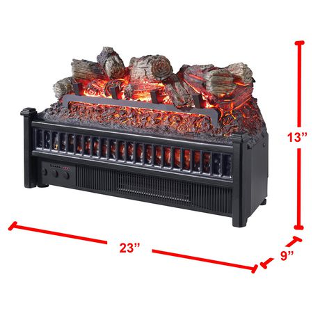 Pleasant Hearth 20 Inches Electric Crackling Fireplace Log With Heater