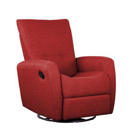 Fauteuil inclinable pivotant d859 de shermag polyester rouge - Fauteuil pivotant rouge ...