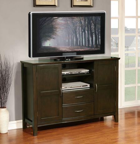 Large meuble pour t l viseur langley de wyndenhall for Meuble pour televiseur
