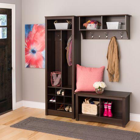 meuble de rangement compact pour vestibule avec compartiments pour chaussures. Black Bedroom Furniture Sets. Home Design Ideas