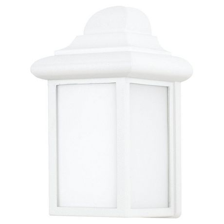 Aurora Lyndhurst 1 Light White Outdoor Wall Lantern