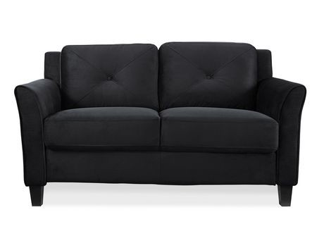 Lifestyle solutions taryn black upsable loveseat walmart for Sofa sectionnel en liquidation
