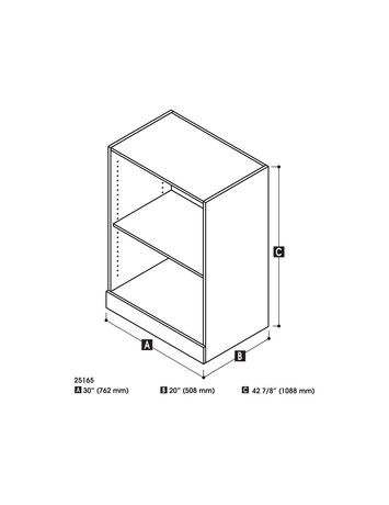 unit de rangement inf rieure 30 avec pont de nebula par bestar antigua. Black Bedroom Furniture Sets. Home Design Ideas