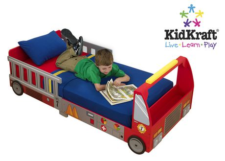 Kidkraft Fire Truck Toddler Bed | Walmart.ca