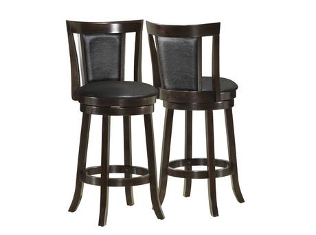 monarch black cappuccino wood 39 h swivel counter stool 2pcs walmart canada. Black Bedroom Furniture Sets. Home Design Ideas