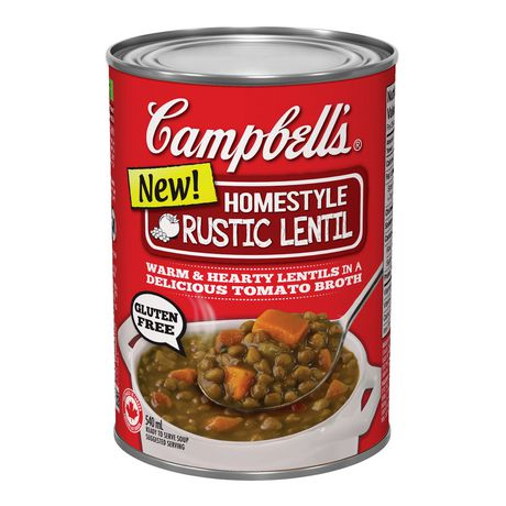 Campbell Ready To Serve Homestyle Rustic Lentil Soup ...