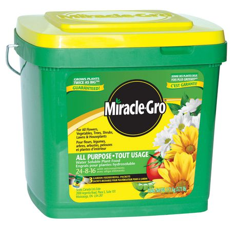 Miracle Gro Water Soluble All Purpose Plant Food 24 8 16