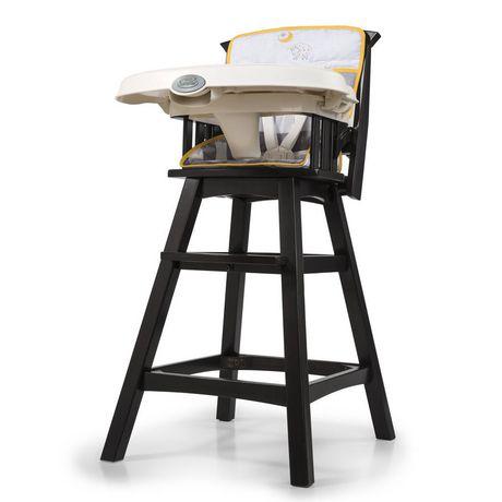 chaise haute classique et confortable en bois de summer