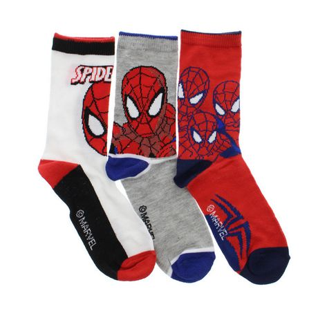 chaussette mi mollet spiderman pour garcons paq de 3. Black Bedroom Furniture Sets. Home Design Ideas