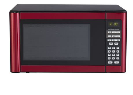 Hamilton Beach 1 1 Cu Ft Metallic Red Microwave Oven