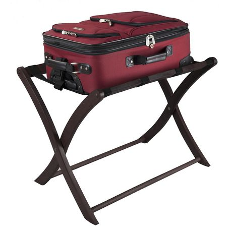 This Home Luggage Rack Bundle Set has four thick straps to hold your suitcase and wide feet to keep the stand stable, allowing you to pack and unpack more easily. It comes in multiple finishes, providing you with just the right one for your taste and decor.