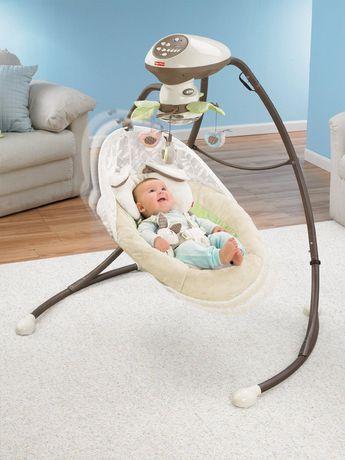 Fisher Price Snugabunny Cradle N Swing With Smart Swing