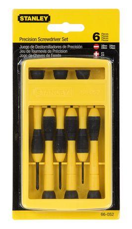 stanley 6 piece precision screwdriver set 66 052. Black Bedroom Furniture Sets. Home Design Ideas