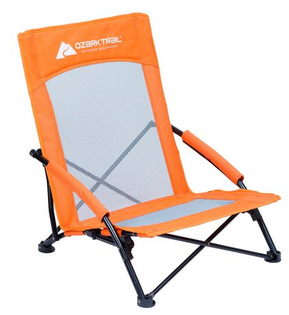 Ozark trail low profile arm chair - Chaise basse plage ...