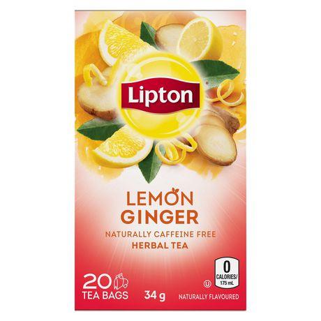 Lemon and ginger tea bags