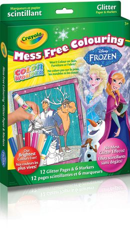 Crayola color wonder glitter paper kit disney frozen for Crayola color wonder 30 page refill paper