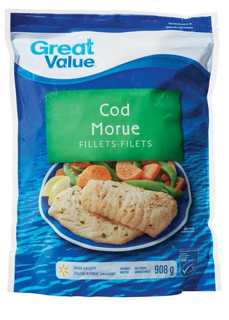 Great value wild caught cod fillets for Cod fish walmart