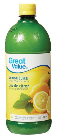 Great Value Lemon Juice From Concentrate