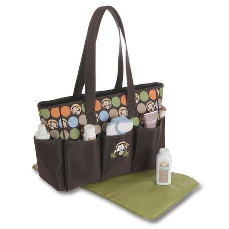 baby boom 6 pocket tote diaper bag. Black Bedroom Furniture Sets. Home Design Ideas
