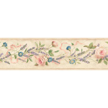 lavender rose border wallpaper