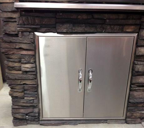Bbqtek 32 Inch X 24 Inch Outdoor Double Access Door Set