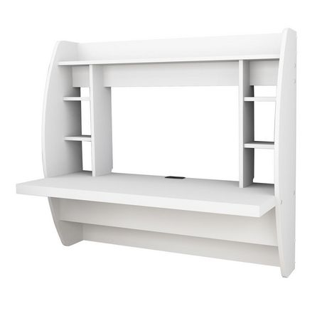 Prepac Floating Desk With Storage Walmart Ca