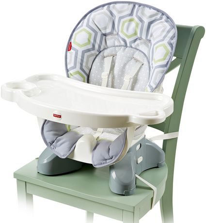 Fisher price spacesaver high chair geo meadow for Chaise haute fisher price