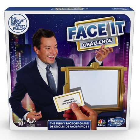 Hasbro Gaming The Tonight Show Starring Jimmy Fallon Face It Challenge Party Game For Teens And Adults