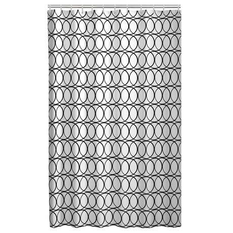 Rideau de douche en tissu avec 12 crochets de mainstays walmart canada - Achat de tissus en ligne canada ...