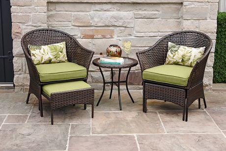 hometrends tuscany 5 piece chat set green