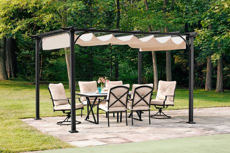 Hometrends Retractable Shade Pergola