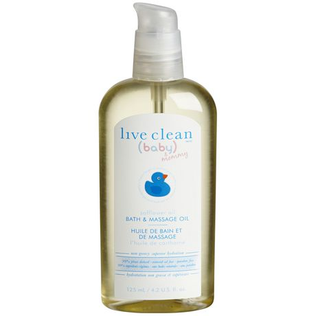 Live Clean Baby Amp Mommy Safflower Oil Bath And Massage Oil