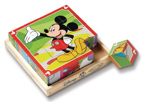 Melissa Amp Doug Mickey Mouse Clubhouse Wooden Cube Puzzle